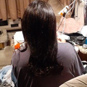 Brazilian dark brown wig. Originally $400
